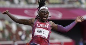 Brittney Reese wraps up her decorated career with silver in long jump