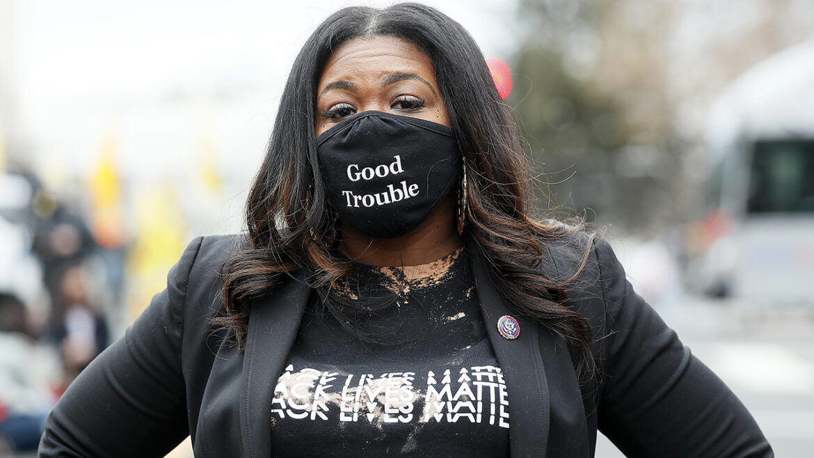 Cori Bush slammed for video of her camping, crying on Capitol steps to fight evictions surfaces