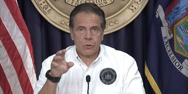 Cuomo snaps at reporter when confronted about his scandals at hurricane briefing