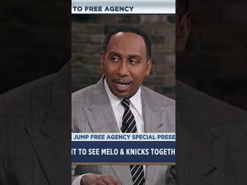 Stephen A. Smith wants Carmelo Anthony on the Lakers with LeBron James | #shorts