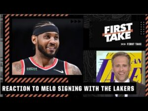 First Take reacts to Carmelo Anthony signing a one-year deal with the Lakers