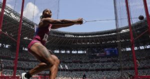If you're waiting for Gwen Berry's Olympic podium protest, she has other goals