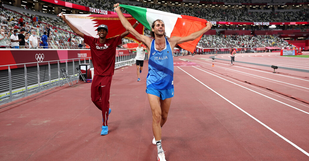 In a Show of Sportsmanship, Italy and Qatar High Jumpers Jumped at Chance to Share Gold