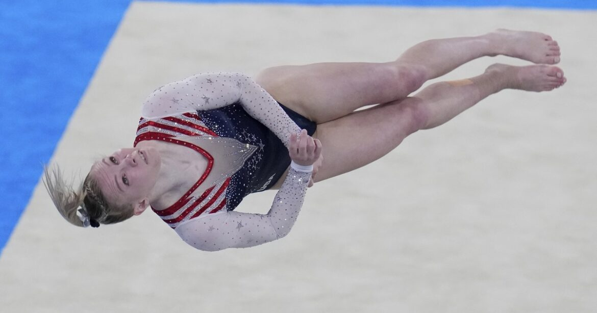 Jade Carey wins gold in floor exercise for the U.S. at the Tokyo Olympics