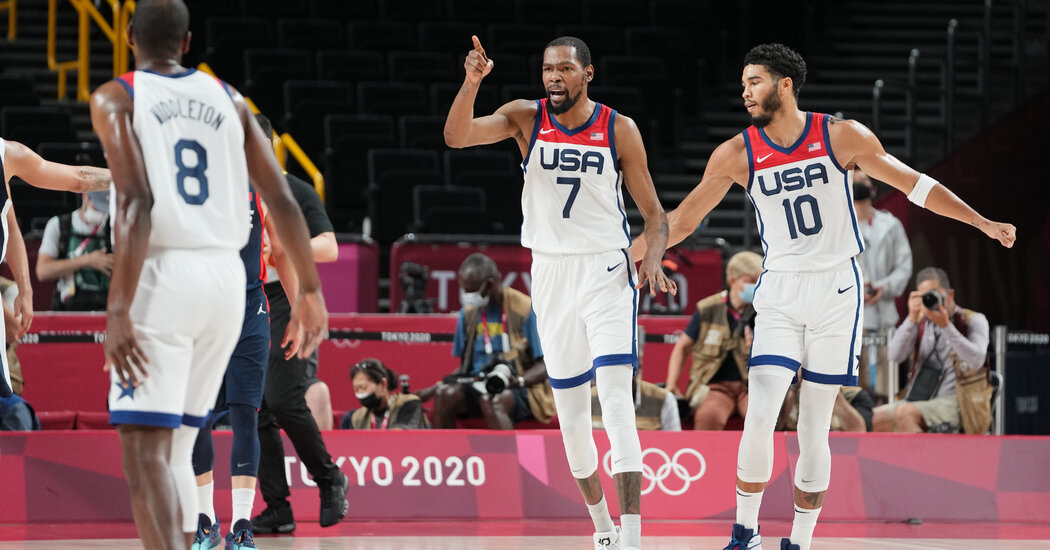 Kevin Durant and Jayson Tatum Lead Team U.S.A. in Scoring at Half