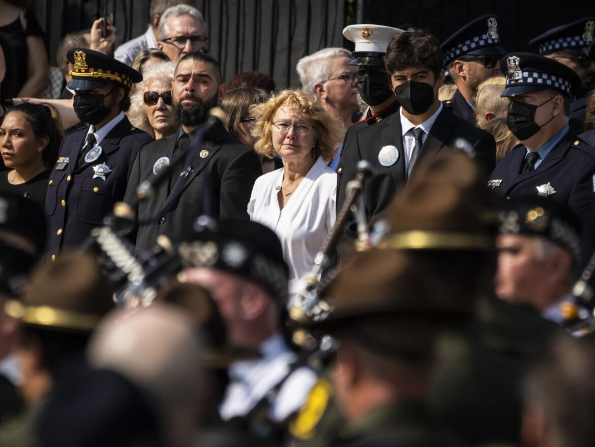 Mourners gather at funeral for slain Chicago police officer Ella French, remembered as 'loud, fun and outgoing'