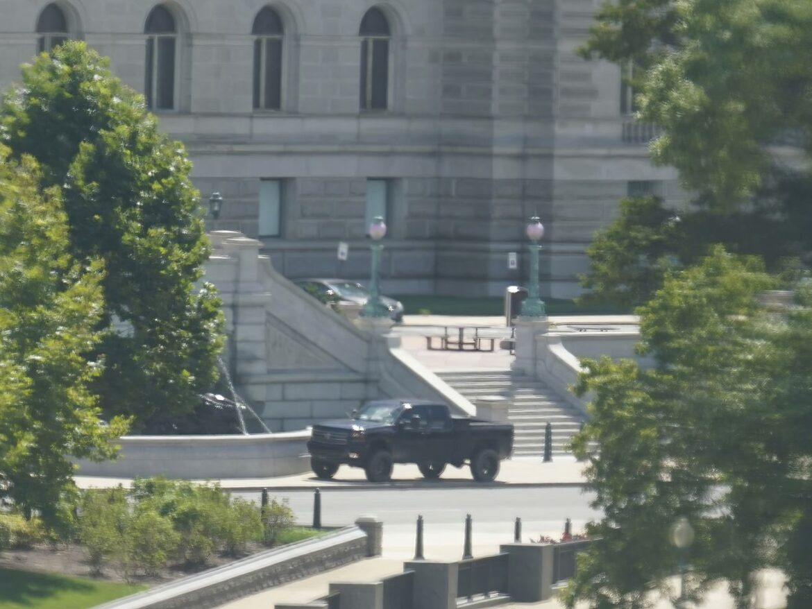 Police say man in pickup near Capitol claims he has a bomb