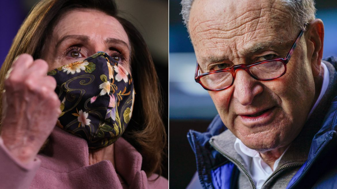 Schumer, Pelosi panned for dancing with Stephen Colbert, Napa fundraiser with Biden's presidency under siege