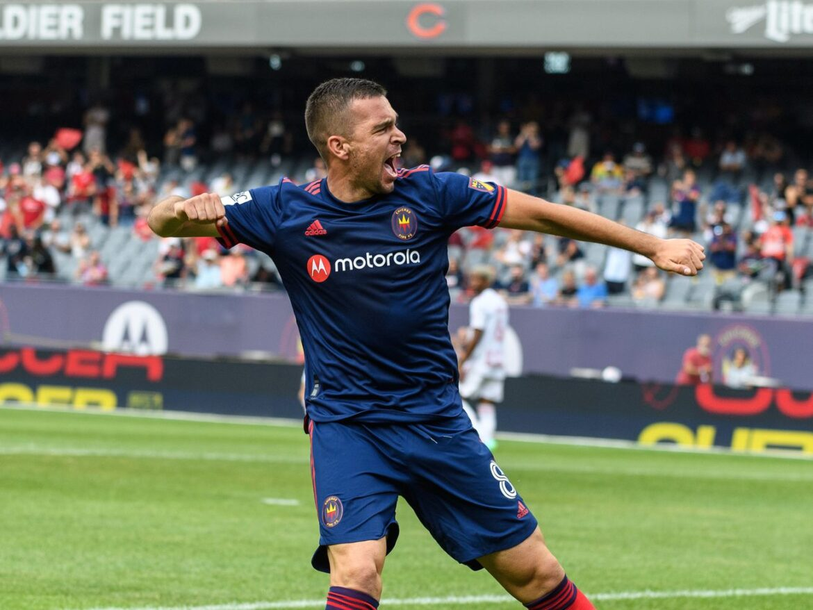 Stojanovic scores twice in return to starting lineup, leading Fire to win over Red Bulls