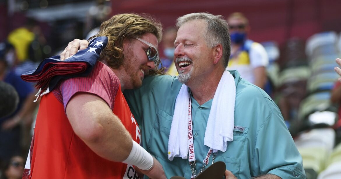 U.S. shot putter Ryan Crouser defends his Olympic title with gold in Tokyo