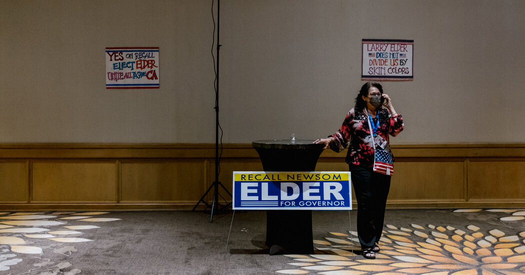 High Hopes Dashed at Larry Elder's Party After Recall Defeat