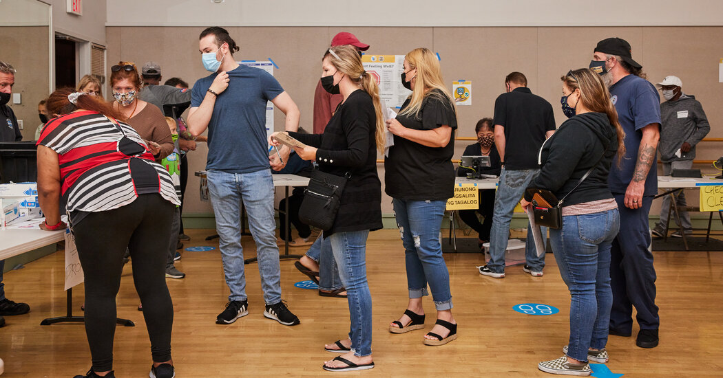 Pandemic Drove Many California Recall Voters