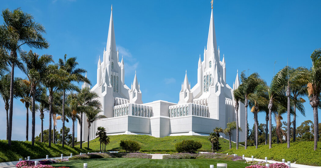 Mormons should wear face masks 'at all times' in temples, the church instructs.