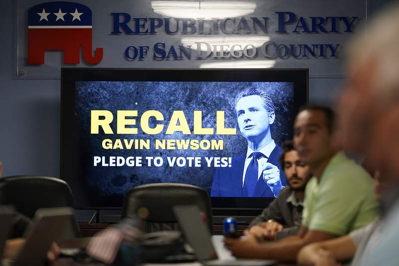 Few voting issues reported with California recall election