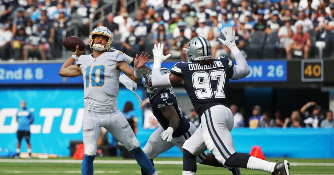Chargers' 20-17 loss to Cowboys by the numbers