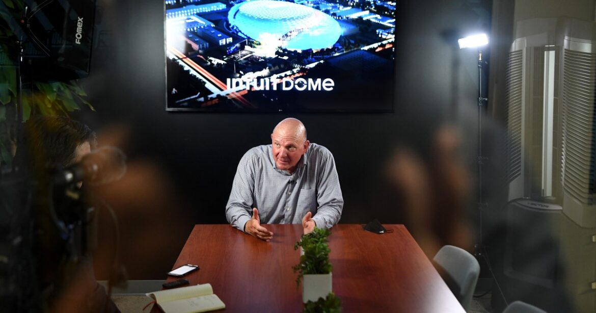 Column: Clippers owner Steve Ballmer puts jeering Lakers fans on notice: 'We're coming for you'