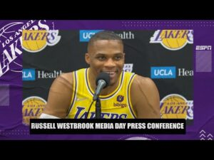 Russell Westbrook says he wants to 'uplift' LeBron & AD during his 1st Lakers Media Day Interview