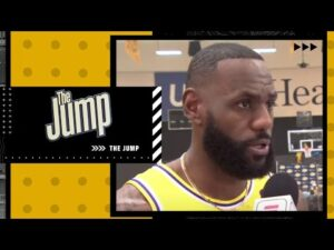 Dave McMenamin interviews LeBron James from Los Angeles Lakers Media Day | The Jump