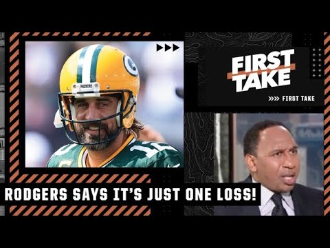 Stephen A. reacts to Aaron Rodgers' comments on the Packers' loss to the Saints | First Take