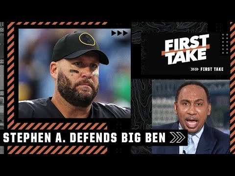 'JUST BLASPHEMY' – Stephen A. frustrated by Big Ben being called the worst AFC North QB   First Take