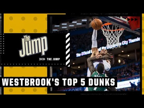Russell Westbrook's Top 5️⃣ most athletic dunks   The Jump