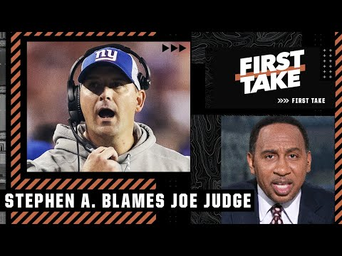 Stephen A. points the finger at Joe Judge for the Giants' loss | First Take