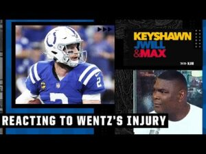 Keyshawn wanted Carson Wentz to play through his ankle injury in the Colts' loss to the Rams | KJM
