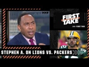 Stephen A. reacts to the Packers defeating the Lions: I'm not concerned about Rodgers! | First Take