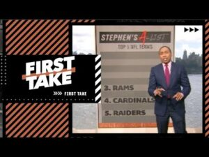Stephen's A-List: Top 5 NFL teams | First Take