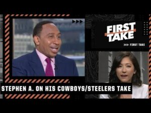 Mina Kimes and Keyshawn Johnson drill Stephen A. about his Cowboys and Steelers take | First Take