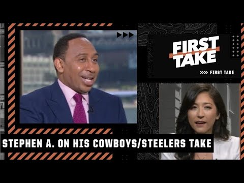 Mina Kimes and Keyshawn Johnson drill Stephen A. about his Cowboys and Steelers take   First Take