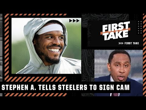 The Steelers should 'go get Cam Newton right now' – Stephen A.   First Take