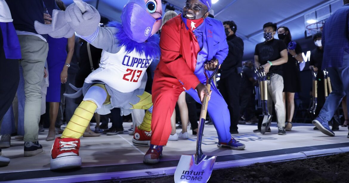 It's a Clippers celebration when breaking ground for own home in Inglewood