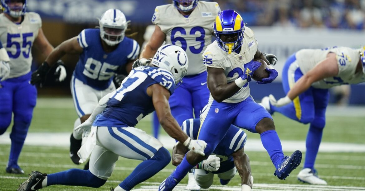 It's a Sony Michel outlook with Rams' injured Darrell Henderson questionable to play