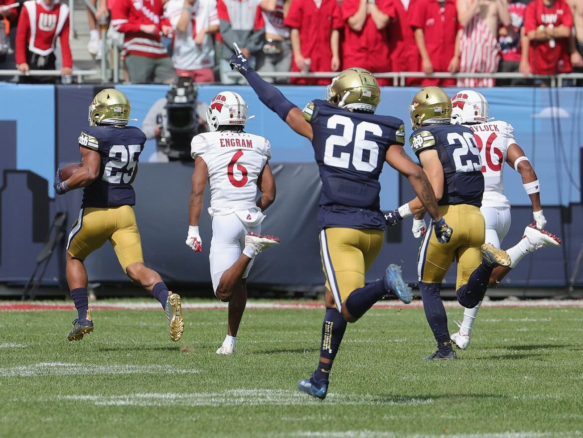 Notre Dame hits Wisconsin with an avalanche of 'insane' in 41-13 win that had it all