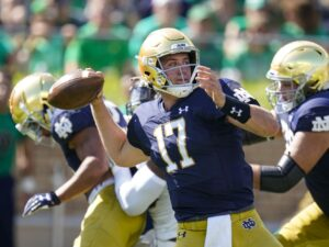 Notre Dame QB Jack Coan set for reunion with Wisconsin