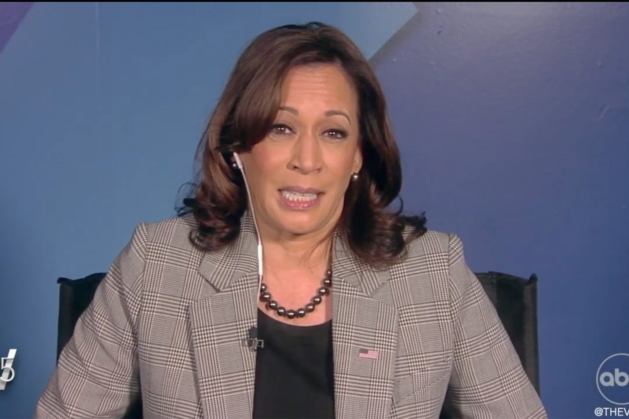 """Vice President Kamala Harris' scheduled live appearance on """"The View"""" was delayed Friday morning after two co-hosts tested positive for the coronavirus, their colleague Joy Behar told the show's viewers."""