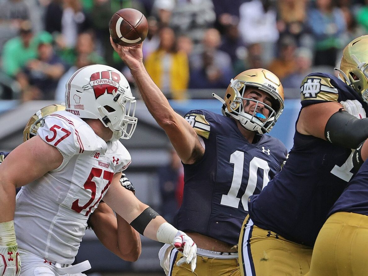 With Jack Coan out, No. 12 Notre Dame beats No. 18 Wisconsin at Soldier Field