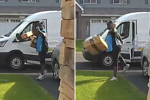 Amazon delivery man caught tossing packages like Frisbees in security video