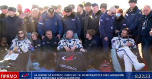 Russian Film Crew Returns From Shoot on Space Station
