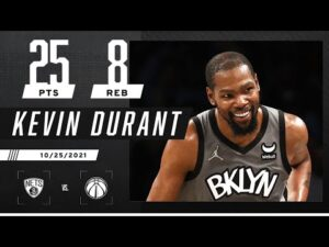Kevin Durant puts up 25 PTS, 8 REB with EASE vs. Wizards! 🍿👀