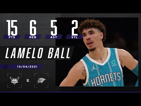 LaMelo Ball begins the preseason with 16 PTS, 6 REB, 5 AST & 2 STL in the W 💪