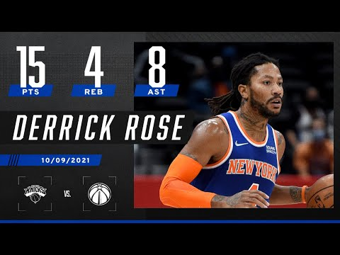Derrick Rose records 15 PTS, 8 AST as Knicks top Wizards