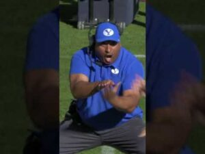 BYU coach's reaction to this TD is PRICELESS | #Shorts