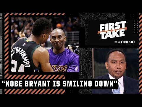 'Kobe Bryant is smiling down on a guy like Giannis Antetokounmpo' – Stephen A. | First Take