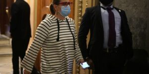Sinema confronted in airport for second time this month, 'Don't touch me'