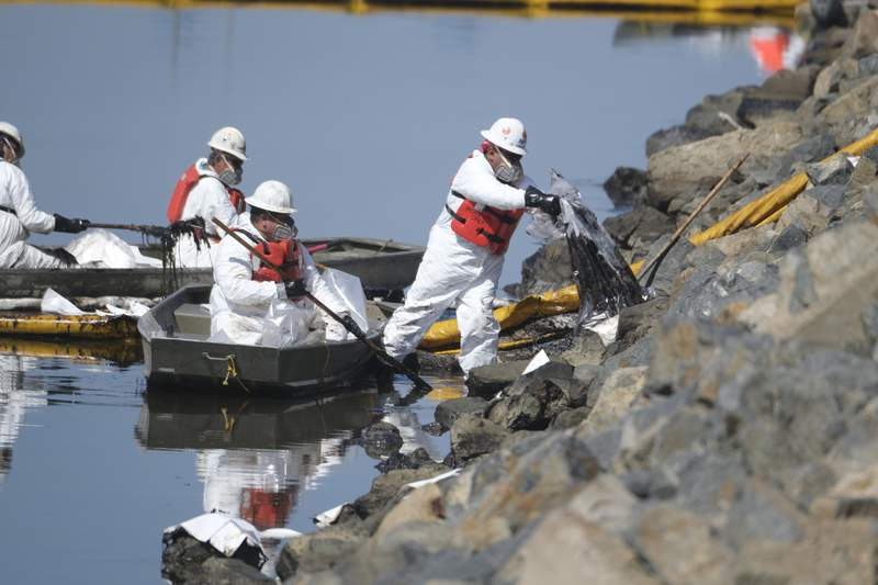 Crews race to limit damage from major California oil spill