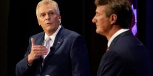 Youngkin says McAuliffe is 'making up a candidate' to run against in razor-thin governor's race
